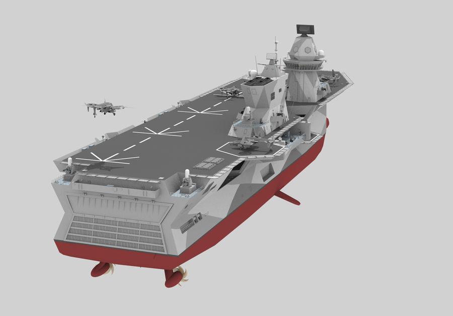 수륙 양용 폭행 royalty-free 3d model - Preview no. 3