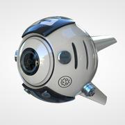 Научно-фантастический Дрон 3d model