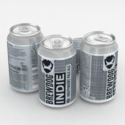 Beer Can Brewdog Indie Pale Ale IPA 330ml 2018 3d model