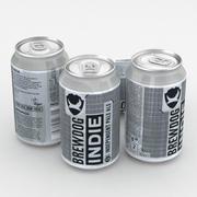 Beer Can Brewdog Indie Pale Ale IPA 330ml 2018 3d model
