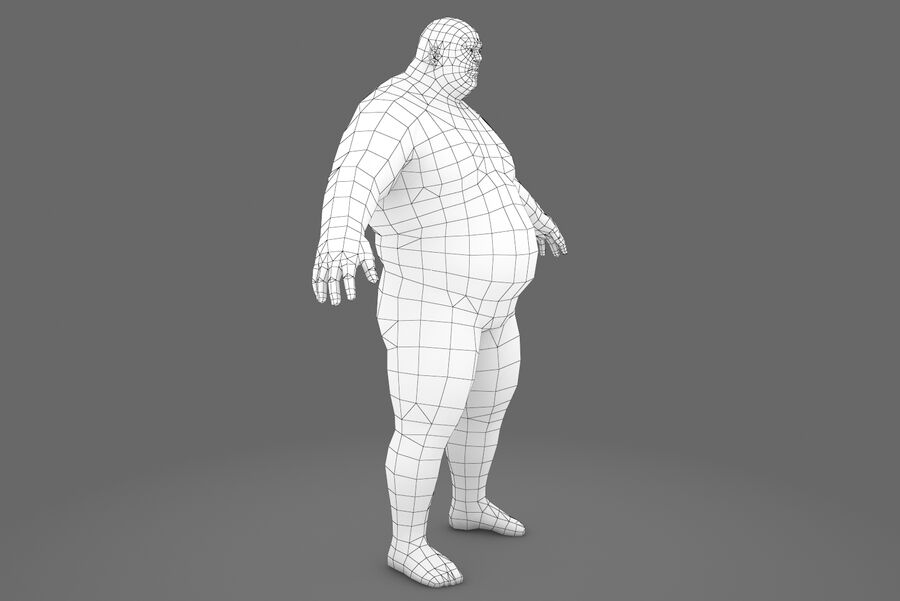 Three Types Of Characters royalty-free 3d model - Preview no. 12