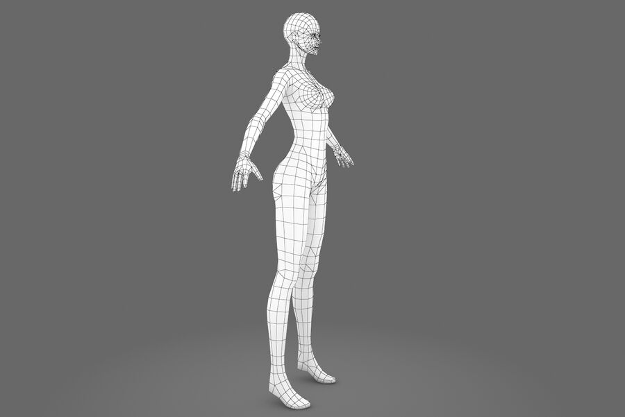 Three Types Of Characters royalty-free 3d model - Preview no. 9
