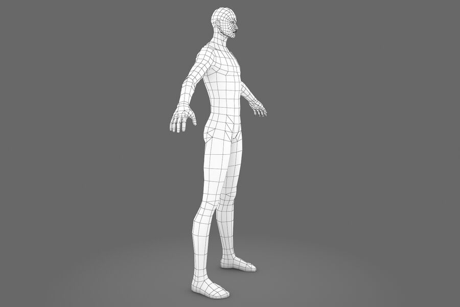 Three Types Of Characters royalty-free 3d model - Preview no. 15