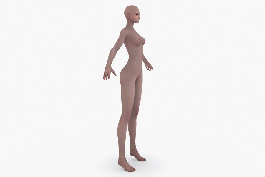 Three Types Of Characters royalty-free 3d model - Preview no. 6