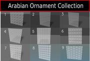 Arabian Decorative pattern Collection 3d model