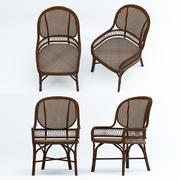 실내 위커 의자 3d model