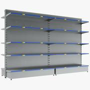 Prateleiras vazias de supermercado 3d model