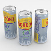 Alcohol Can Gordons Dry Gin and Tonic 250ml 3d model
