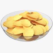 Potato Chips Plate 3d model