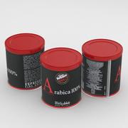 咖啡罐咖啡Vergnano 1882阿拉伯咖啡100%290g 3d model