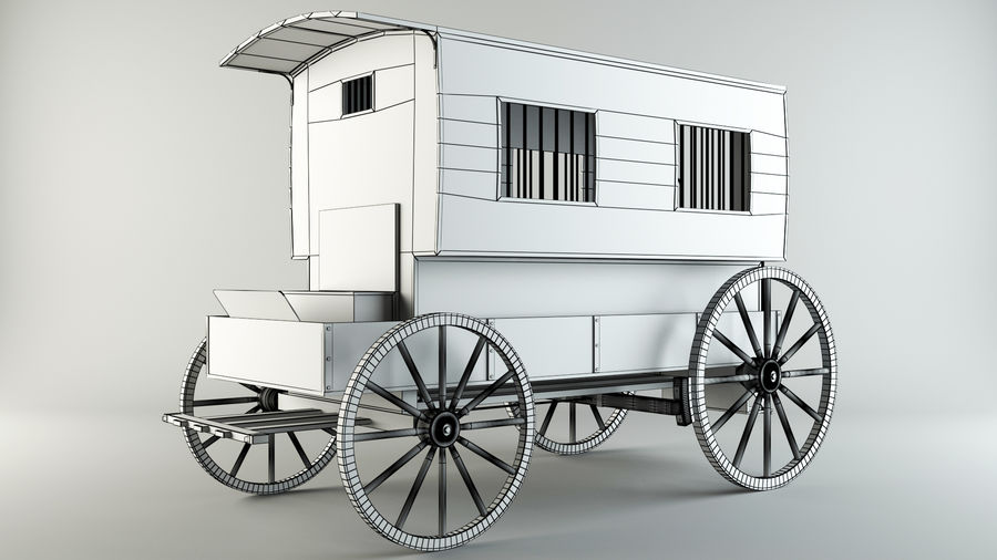 Carro de prisioneros royalty-free modelo 3d - Preview no. 6