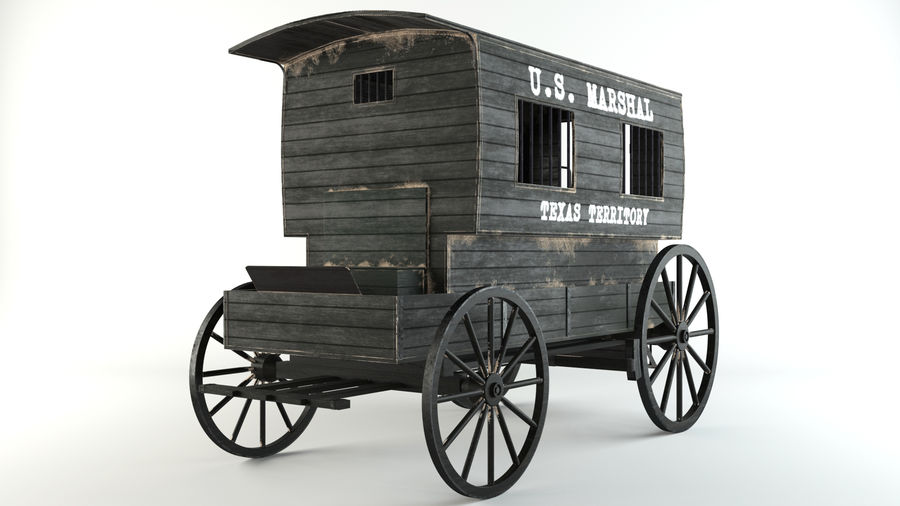 Carro de prisioneros royalty-free modelo 3d - Preview no. 2