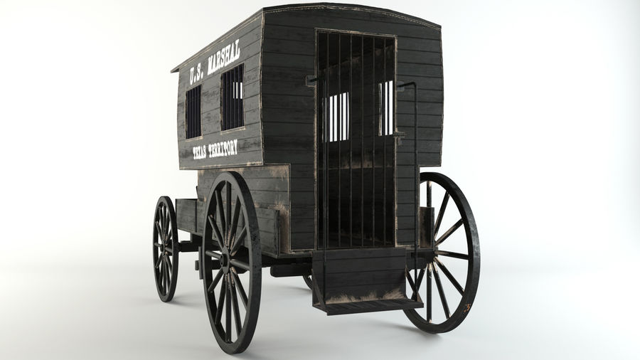 Carro de prisioneros royalty-free modelo 3d - Preview no. 4
