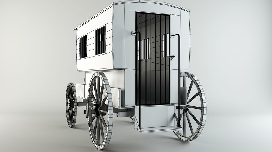 Carro de prisioneros royalty-free modelo 3d - Preview no. 7