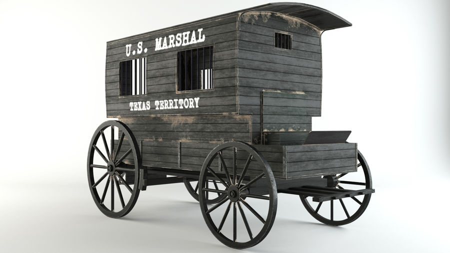 Carro de prisioneros royalty-free modelo 3d - Preview no. 3