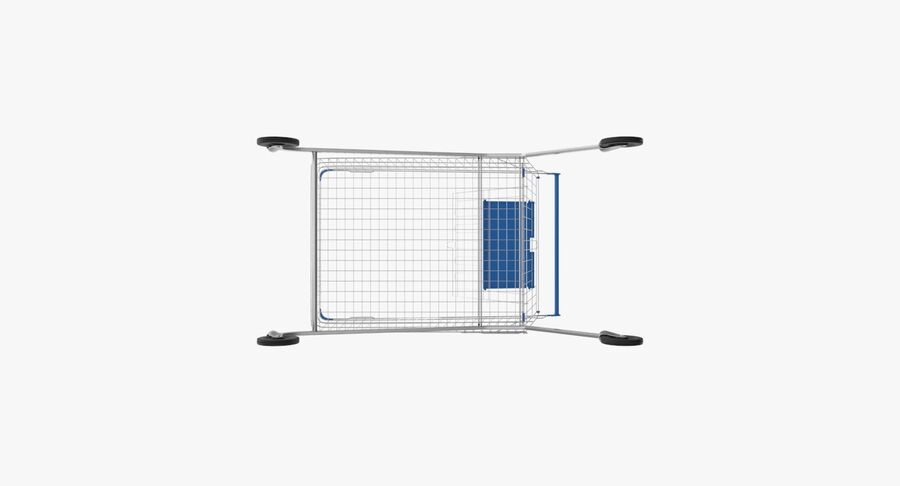 Carrinho de supermercado royalty-free 3d model - Preview no. 11