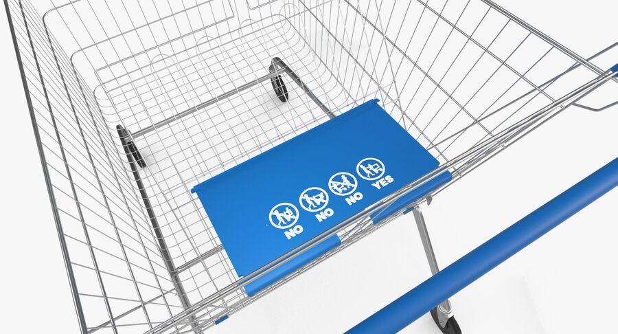 Carrinho de supermercado royalty-free 3d model - Preview no. 12