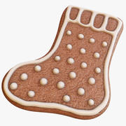 Gingerbread Sock 3d model