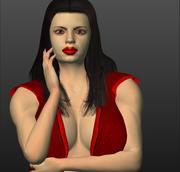 Mulheres animadas 3d model