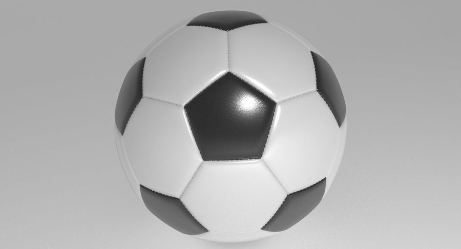 Soccer Ball Football royalty-free 3d model - Preview no. 3