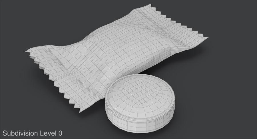 Empacotamento modelado dos doces duros do caramelo v2 royalty-free 3d model - Preview no. 13