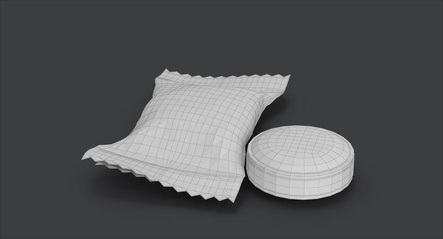 Empacotamento modelado dos doces duros do caramelo v2 royalty-free 3d model - Preview no. 19