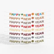 Bonne année lettres 3d model