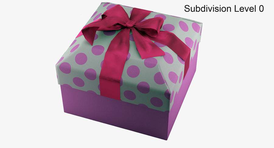 Geschenkbox royalty-free 3d model - Preview no. 8