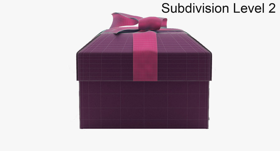 Geschenkbox royalty-free 3d model - Preview no. 14