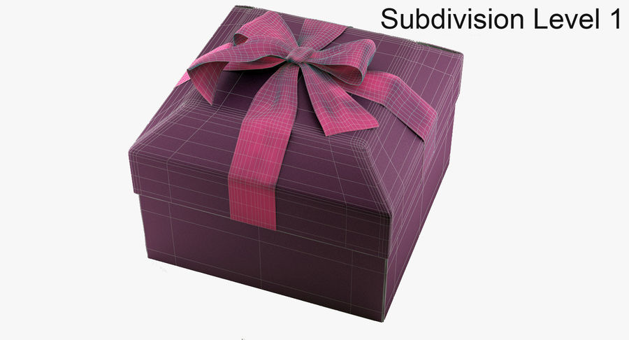 Geschenkbox royalty-free 3d model - Preview no. 12