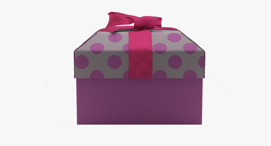 Geschenkbox royalty-free 3d model - Preview no. 7