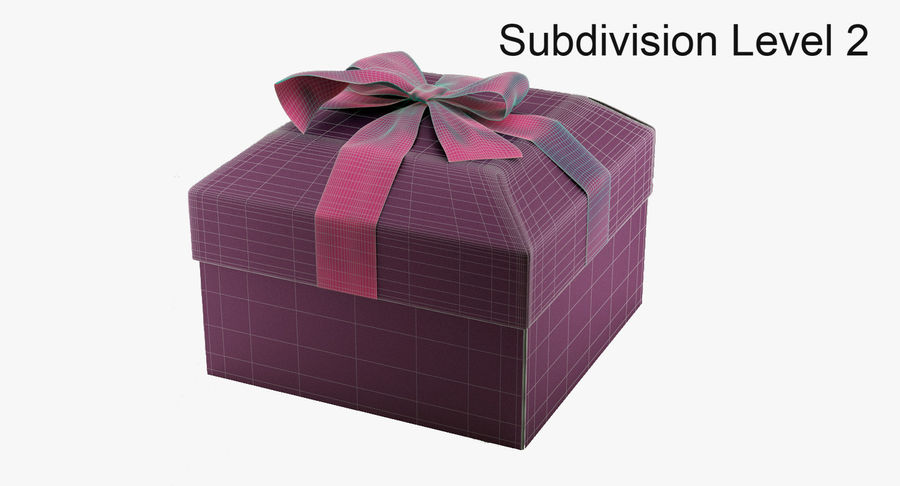 Geschenkbox royalty-free 3d model - Preview no. 13