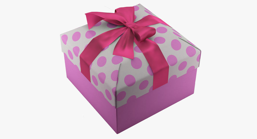 Geschenkbox royalty-free 3d model - Preview no. 2