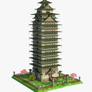 Fantasy Asian Tower 3d model