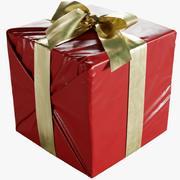 Caixa de presente de Natal embrulhada com laço 160x170x160mm 3d model