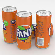 Beverage Can Fanta 330ml Tall 3d model