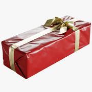 Caixa de presente de Natal embrulhada com laço 175x450x125mm 3d model