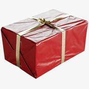 Caixa de presente de Natal embrulhada com laço 330x500x245mm 3d model