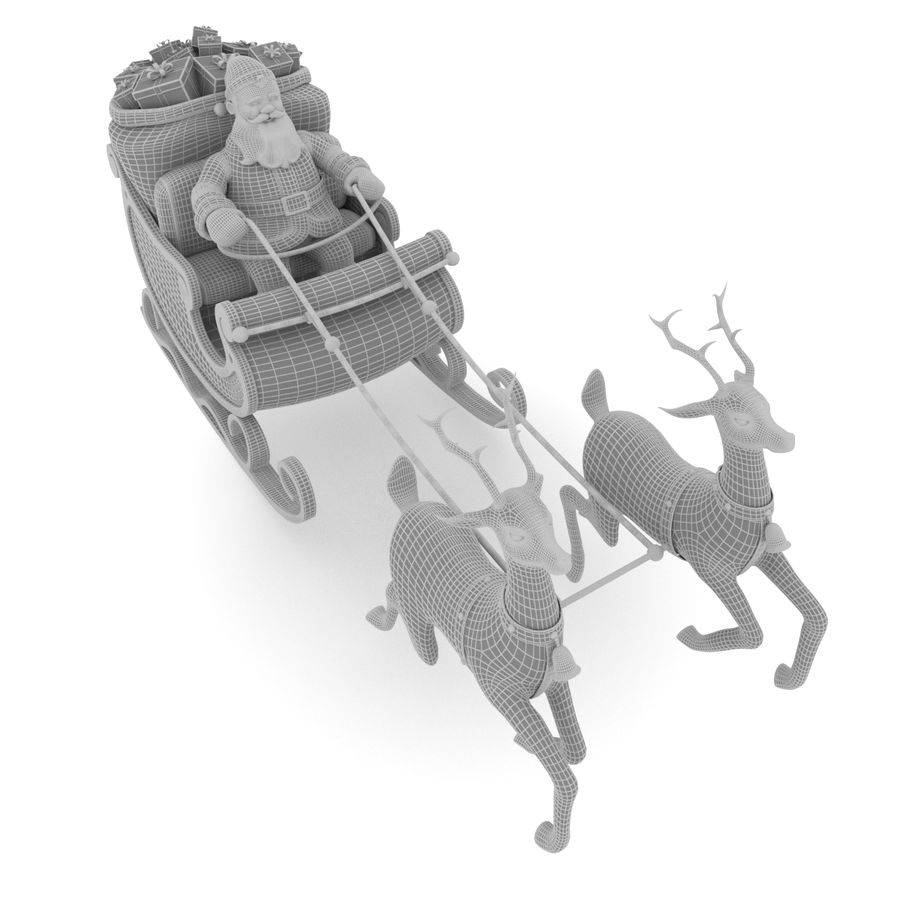 Santa con trineo royalty-free modelo 3d - Preview no. 8