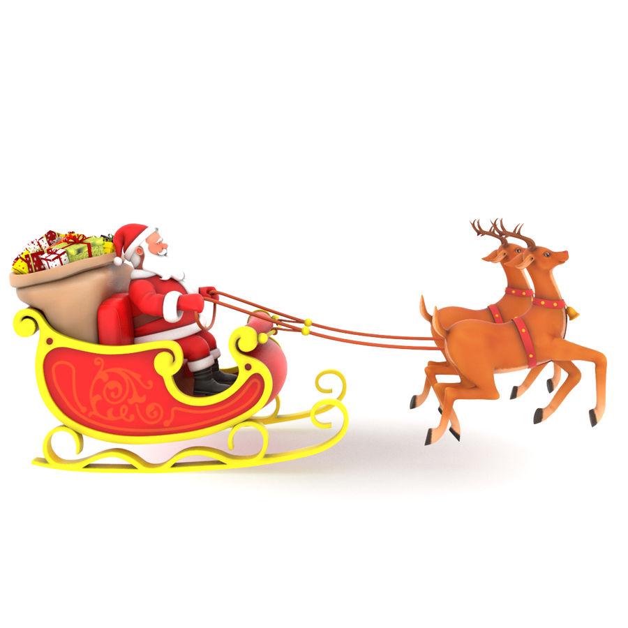 Santa con trineo royalty-free modelo 3d - Preview no. 2