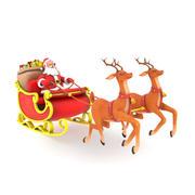 Santa con trineo modelo 3d