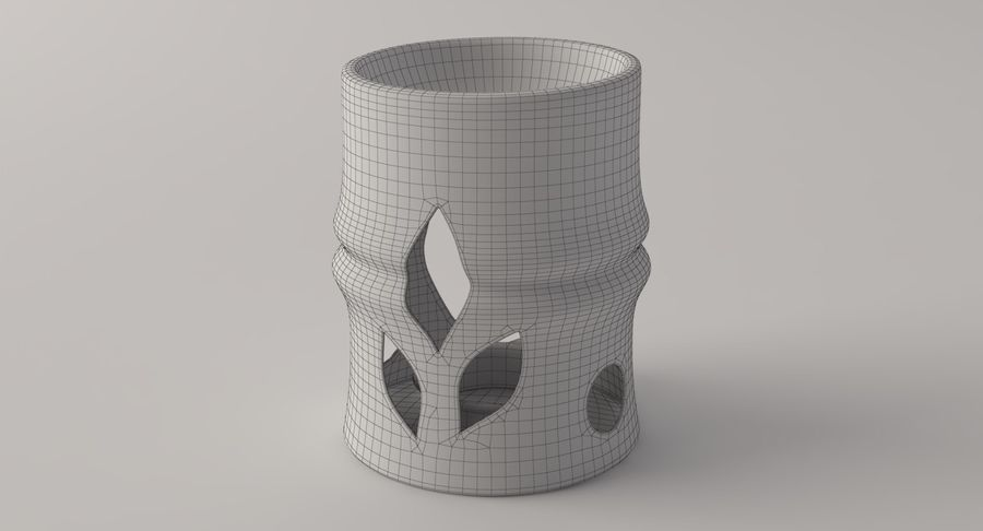 Aroma Lamp royalty-free 3d model - Preview no. 10