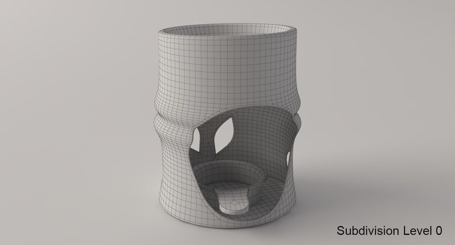 Aroma Lamp royalty-free 3d model - Preview no. 7