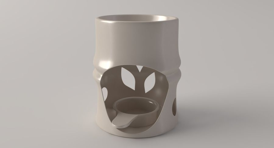 Aroma Lamp royalty-free 3d model - Preview no. 5