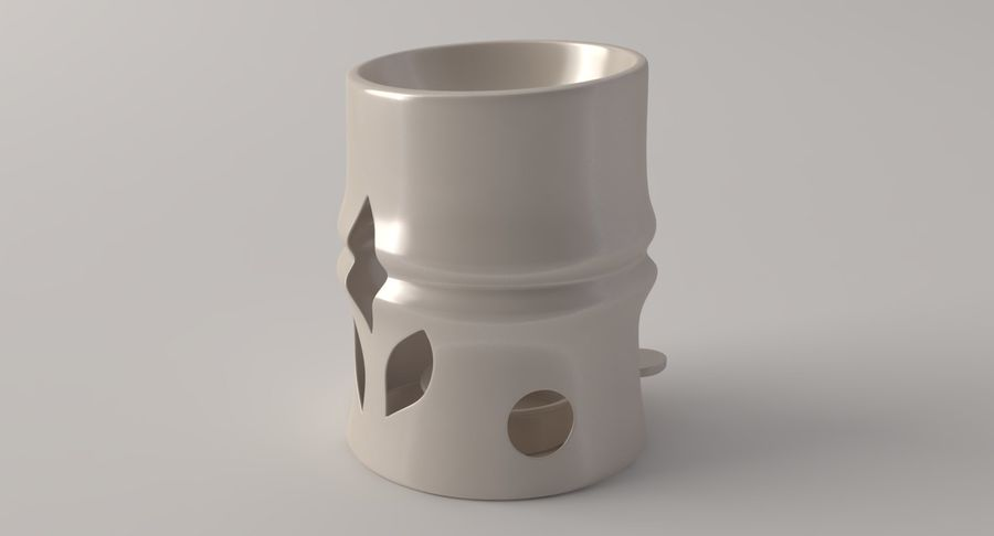 Aroma Lamp royalty-free 3d model - Preview no. 3