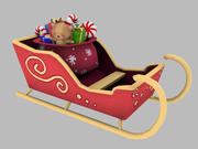 Christmas Sleigh 3d model