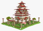 Fantasy Asian House 3d model