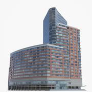 Ritz Carlton Hotel Battery Park Variation 3 Lowpoly 3d model