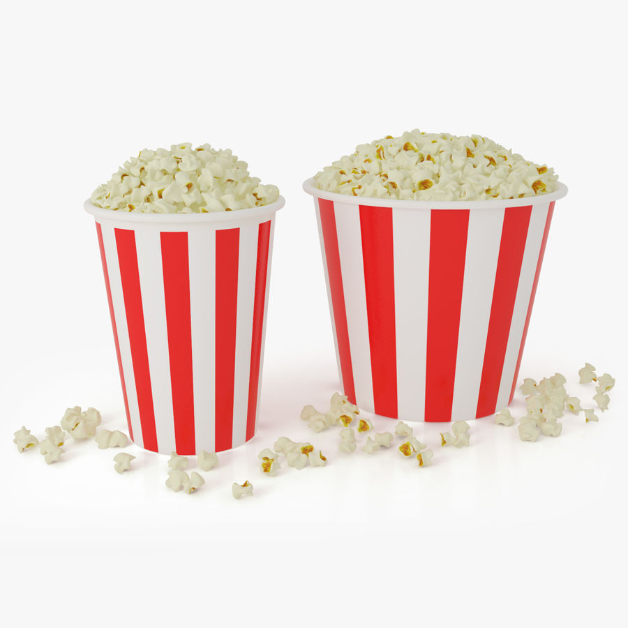 Popcorns In Tubs royalty-free 3d model - Preview no. 1