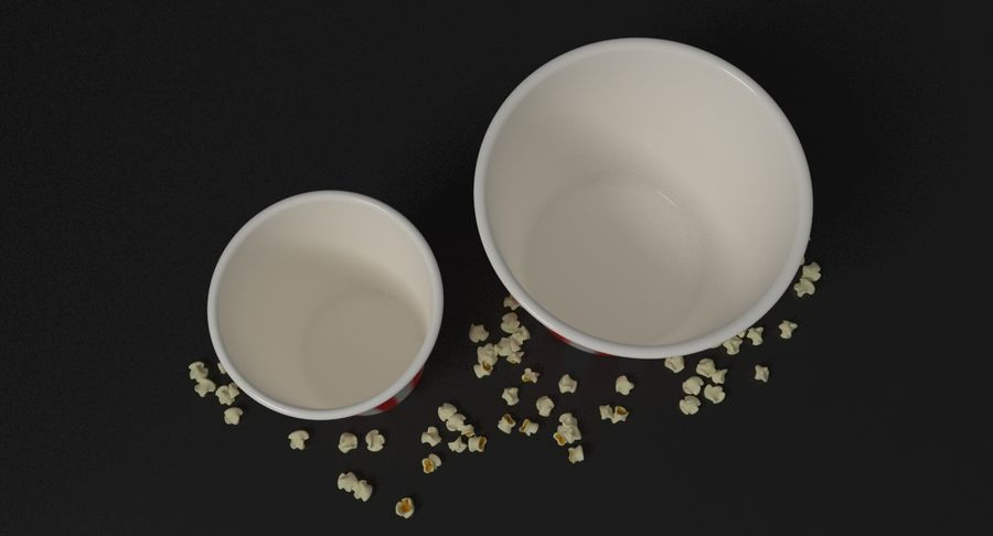 Popcorns In Tubs royalty-free 3d model - Preview no. 9